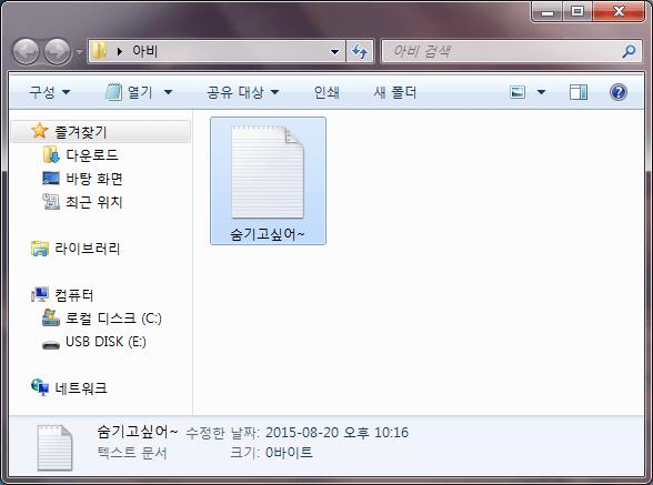 파일 숨기기