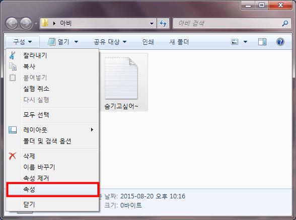 파일 숨기기010