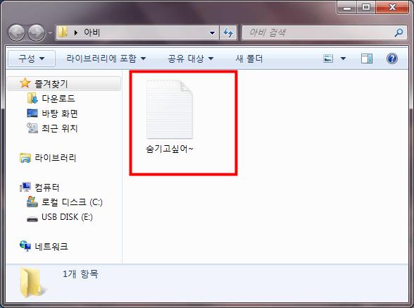 파일 숨기기016