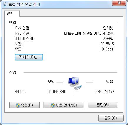 인터넷 스피드 측정