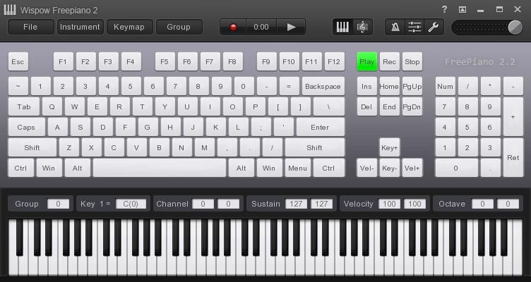 사운드포지 피아노 메인화면