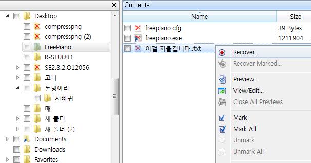 복구된 파일 입니다.